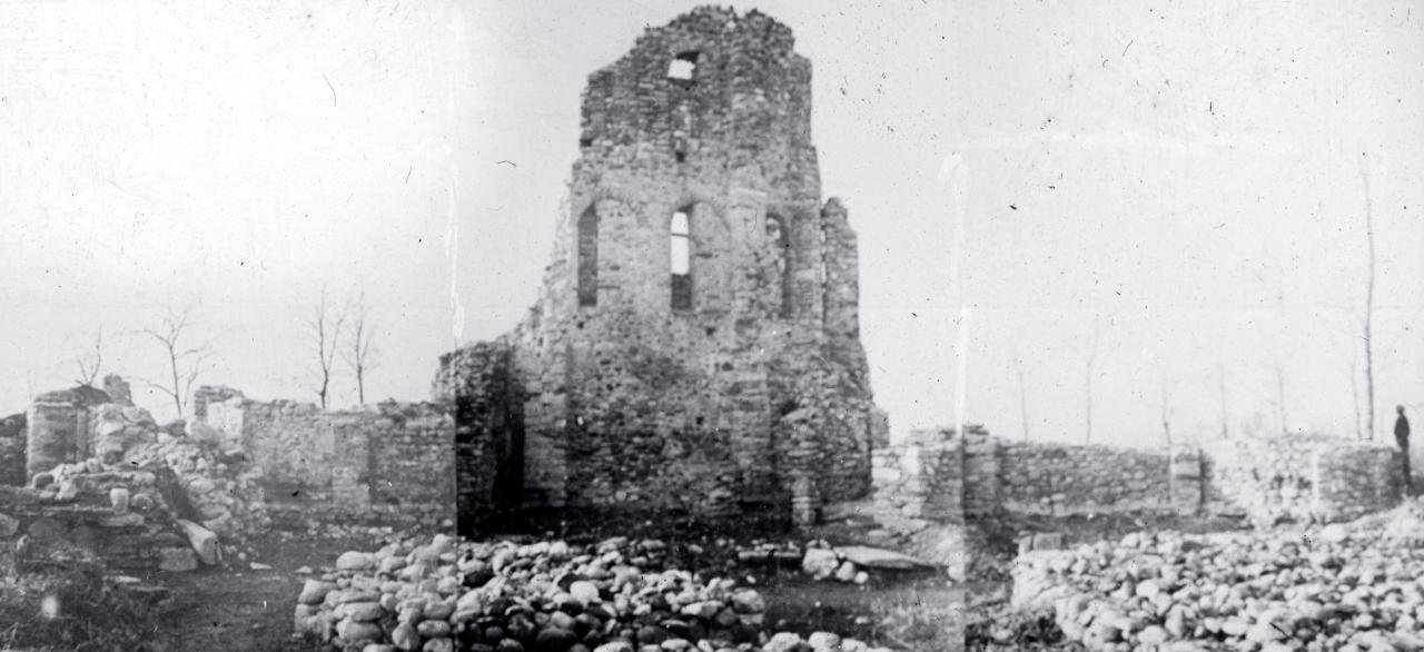 La chiesa San Giovanni prima del 1955