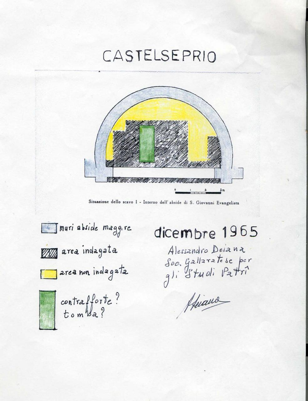 Rilievo Abside San Giovanni - Dejana 1965