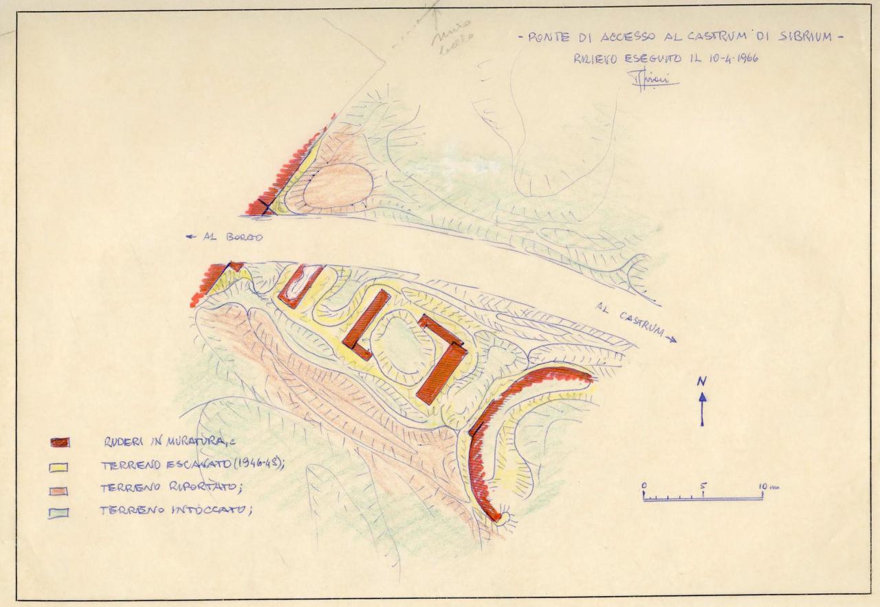 Rilievo delle pile del ponte - Sironi 1966