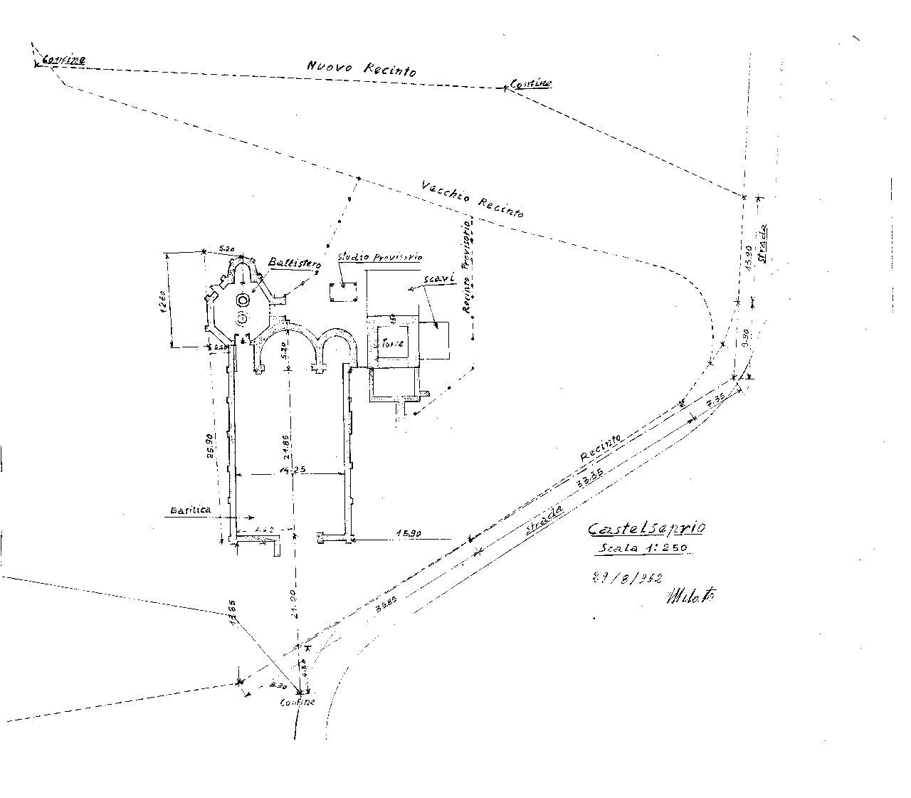 Rilievo area basilicale - Melato 1962