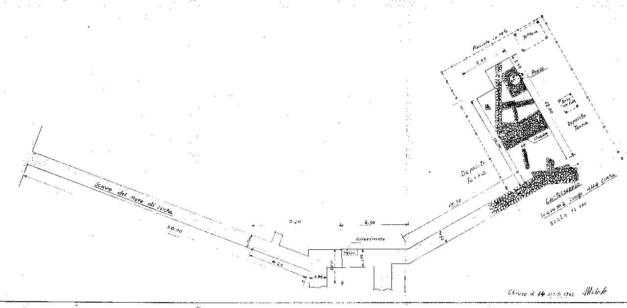 Rilievo mura sudoccidentali 1962-63