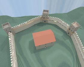 Ricostruzione 3D della casa forte