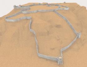 Ricostruzione 3D della cinta muraria (D. Gallina)