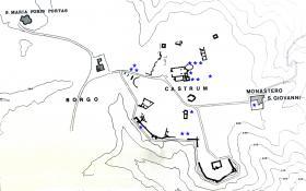 Pianta di Castelseprio con la collocazione dei pezzi