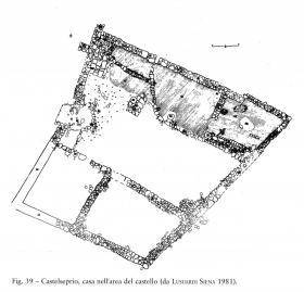 Pianta dell'edificio - scavi 1981