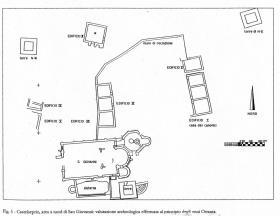 La pianta della casa dei canonici